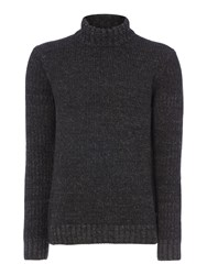 Label Lab Men's Lear Roll Neck Charcoal
