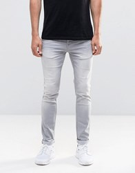 Only And Sons Jeans Skinny In Grey Denim Grey Black