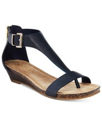 Kenneth Cole Reaction Great Gal Wedge Sandals Women's Shoes Navy