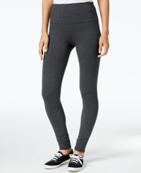 Styleandco. Style Co. Petite Tummy Control Active Leggings Only At Macy's Charcoal Heather