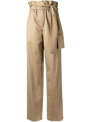 3.1 Phillip Lim Paperbag Waist Trousers Brown
