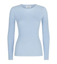 Allude Ribbed Cashmere Sweater Female Blue