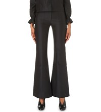 Co Patch Pocket Flared Trousers Black