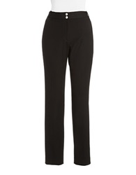 Jones New York Slim Leg Dress Pants Black