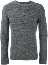 Folk Horizontal Rib Jumper Grey