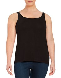 Lord And Taylor Plus Iconic Slimming Tank Black