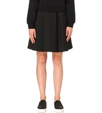 Izzue Pleated Neoprene Skirt Black
