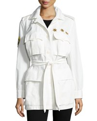 Figue Metallic Beaded Safari Jacket Off White