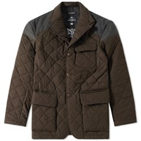 Nigel Cabourn X Lavenham Quilted Mallory Jacket Brown