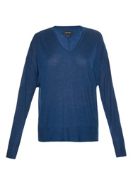 Isabel Marant Elmwood Cashmere And Silk Blend Knit Sweater