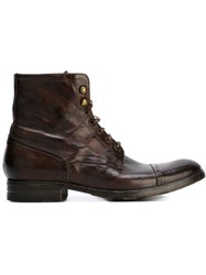 Pete Sorensen 'Detroit' Combat Boots Brown