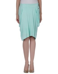 Fairly Knee Length Skirts Light Green