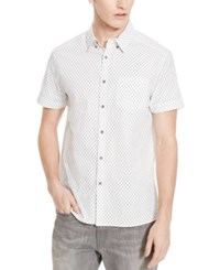 Kenneth Cole Reaction Men's Anchor Print Short Sleeve Shirt