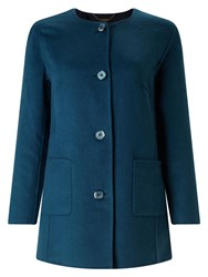 Eastex Double Faced Wool Coat Multi Coloured Multi Coloured