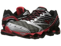 Mizuno Wave Prophecy 5 Gunmetal High Risk Red Black Men's Running Shoes