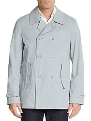 Ben Sherman Double Breasted Cotton Blend Jacket Quarry