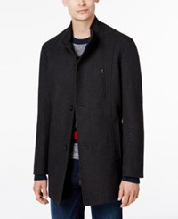 Tommy Hilfiger Men's Birch Slim Fit Overcoat Charcoal