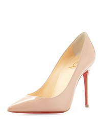 Christian Louboutin Decollete Patent Leather Red Sole Pump Nude
