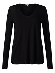Jigsaw Double Layer Long Sleeve Tee Black