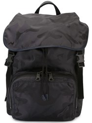 Valentino Camouflage Backpack Blue