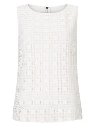 Phase Eight Alba Lace Shell Top White