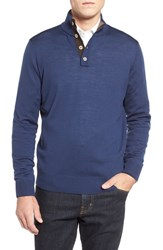 Men's Thomas Dean Merino Wool Sweater Denim