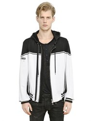 Balmain Hooded Zip Up Cotton Sweatshirt