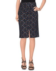 Attic And Barn Attic And Barn Skirts Knee Length Skirts Women Dark Blue