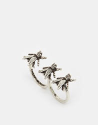 Cheap Monday Triple Fly Ring Silver