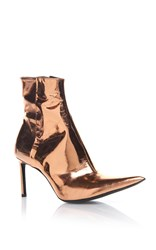 Haider Ackermann Pointed Toe Copper Boot Gold