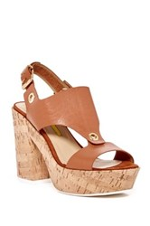 Manas Design Ankle Strap Platform Sandal Brown
