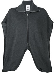 Lost And Found Rooms Zip Up Batwing Cardigan Grey