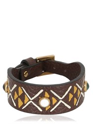 Valentino Primitive Circle Leather Bracelet