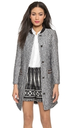 Tory Burch Marbled Tweed Coat