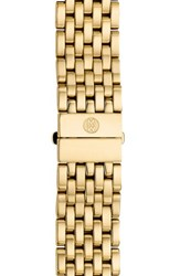Women's Michele 'Csx 36' 18Mm Gold Plated Bracelet Watchband Gold Limited Edition