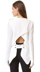 Antonio Berardi Long Sleeve Blouse White