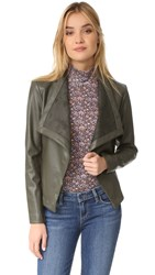 Bb Dakota Peppin Drape Front Jacket Army Green
