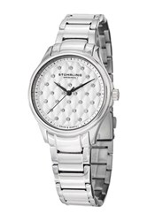 Stuhrling Women's Culcita Swarovski Crystal Embellished Swiss Quartz Watch Gray