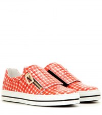 Roger Vivier Mytheresa.Com Exclusive Sneaky Viv Leather Sneakers Red