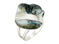 Robert Lee Morris Blue Shell Cocktail Ring Blue Ring