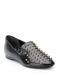 Boutique 9 Yarah Spiked Leather Loafers Black