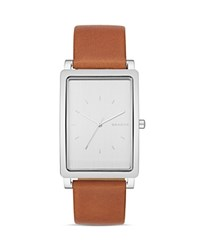 Skagen Hagen Leather Strap Watch 22 X 43Mm White