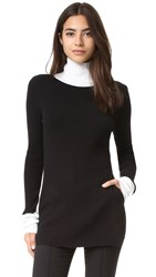 Sjyp Turtleneck Knit Sweater Black