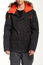 Quiksilver Storm Faux Fur Snow Jacket Black