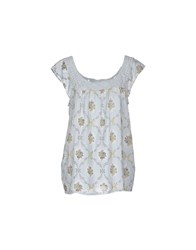 Local Apparel Topwear Tops Women Sky Blue