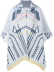Peter Pilotto Geometric Knitted Coat Grey