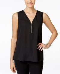 Inc International Concepts Sleeveless Zippered Knit Back Top Only At Macy's