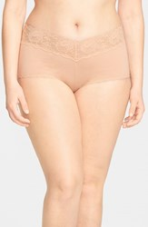 Plus Size Women's Cosabella 'Never Say Never' Low Rise Boyshorts Blush