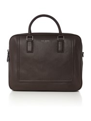 Ted Baker Raised Edge Bowler Bag Chocolate