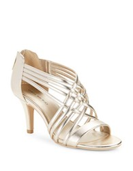 Bandolino Mellona Strappy Heels Light Gold